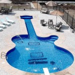 The Les Paul Guitar Swimming Pool!