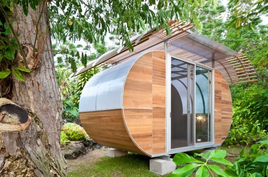 Part Of The Bike Arc Family First House Was Permanently Installed On Island Hawaii In 2010 Large Windows Provide Natural Light