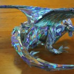 Silver Dragon Sculpture Made With the CD's!