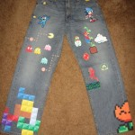 8-Bit Pixel Jeans for a Game Lover!