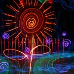 Colorful Light Art Created by Ian Hobson!