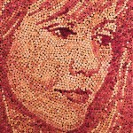 New Portrait Made of Recycled Wine Corks!