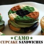 A Creative Camouflage Design : Camo Cupcake Sandwiches!