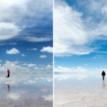 Bolivian Salt Flat Creates Amazing Walking on Water Illusion!