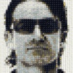 Celebrity Portraits Made From Old Keyboard Keys!