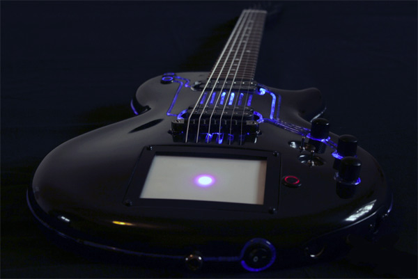 Cybertech T-RON Electric Guitar and it\'s Glows Blue! - Bloggedd