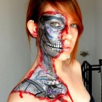 Creepy But Yet Cool Face Painting : Make You Horror!