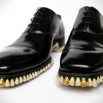 Shoes Sole Made With Tooth and Front With Gold – Amazing!