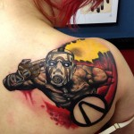 Borderlands Psycho Bandit Tattoo – Looking Amazing!