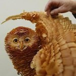 Layers of Cedar Wood Chips Form Realistic Siberian Wildlife –
