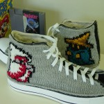 Knitted Converse Sneakers With Mario, Tardis and Other Geekies!
