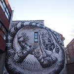 Giant Mural of Crocodile Wraps Around Entire Building!