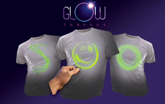 Fully Interactive Glow T-Shirts Uses Mini UV Light & Laser!