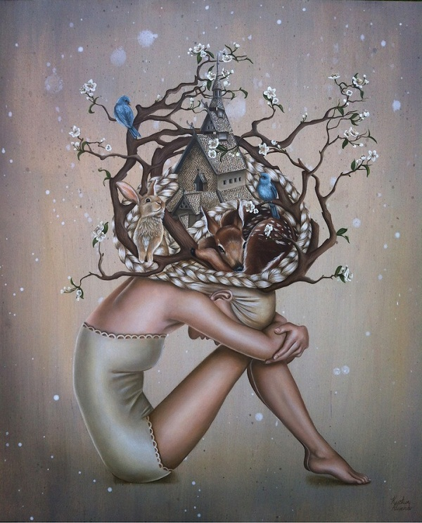 Beautiful Surreal Paintings of Daydreaming Maidens!