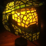 Master Chief Stained Glass Lamp For Halo Fans