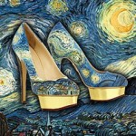 Painted High Heels Shoes That Looks Like Famous Artworks!