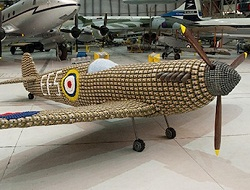 WW2 Life-Size Spitfire Plane Built With 6,500 Egg Cartons!
