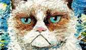 Palette Knife Paintings of Hilarious Grumpy Cats!