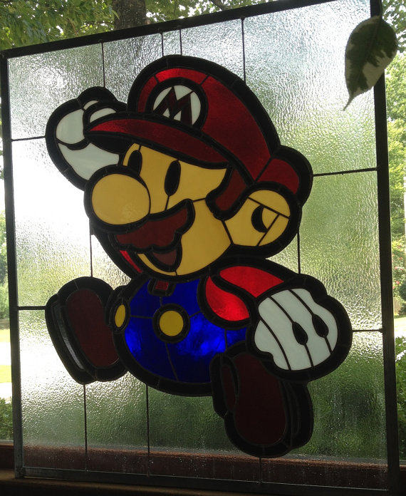 stained glass mario 4