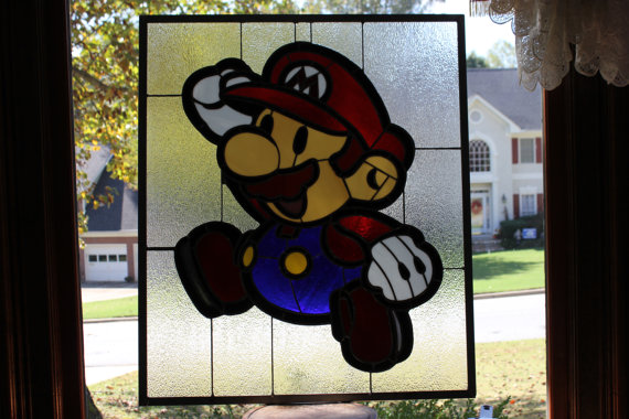 stained glass mario 5