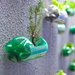 Awesome Wall Garden Created From Recycled Plastic Soda Bottles!